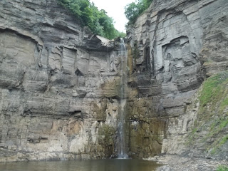 Taughannock Falls from trail's end