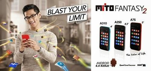 Mito Fantasy 2 A310, A250 Dan A75 Android KitKat Harga dan Spesifikasi