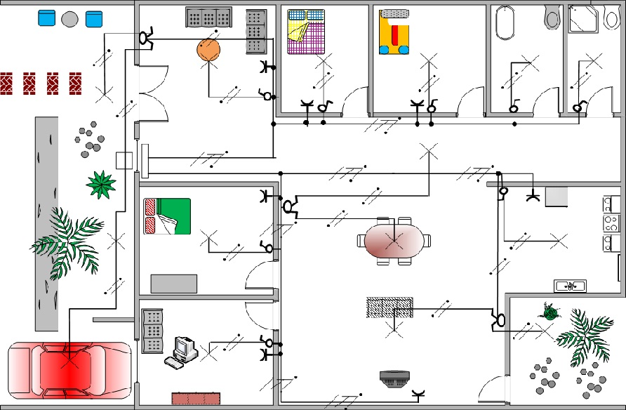 Contoh Diagram Instalasi Listrik