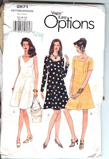 OOP Vogue 8971 sewing pattern. Easy dress