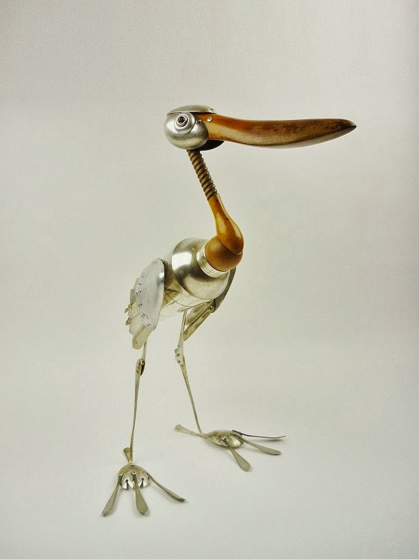 15-Spoonbill-Stork-Sculptor-Recycled-Animal-Sculptures-Dean-Patman-Graphic-Design-www-designstack-co