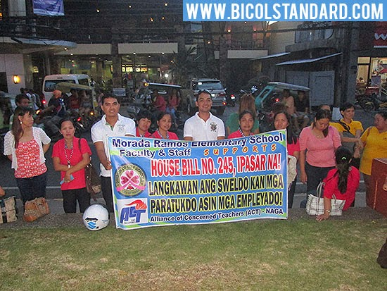 Naga City teachers join call for salary hike Photo by Oscar Esmenda/BICOLSTANDARD.COM