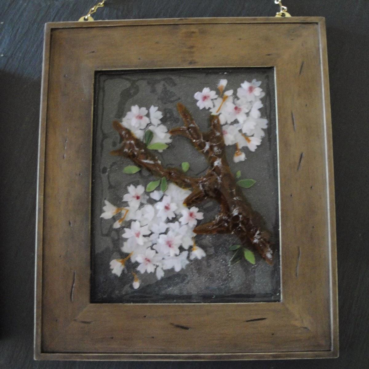 fused stained glass sakura cherry blossom bloom flower flowers petals pink blooms flutterbyfoto flutterbybutterfly etsy