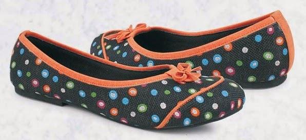 Sepatu Flat Hitam Pita Coklat Hazzel
