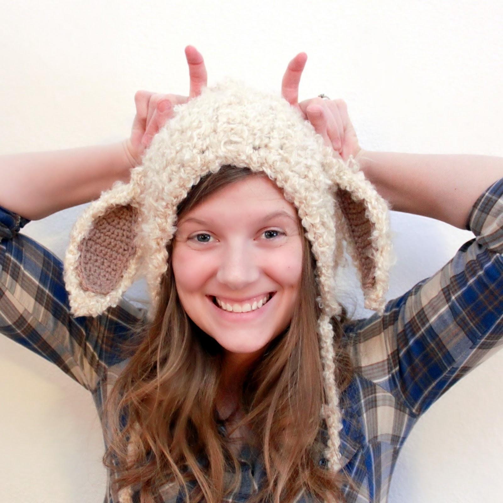Free Crochet Pattern Baby Lovey : Crochet For Free: Lamb Hat (Size Newborn to Adult)