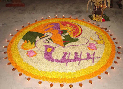 Beautiful Onam Pookalam Floral Designs 2011 for Onam Festival Competitions