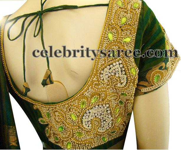 Latest Designer Blouses in Green