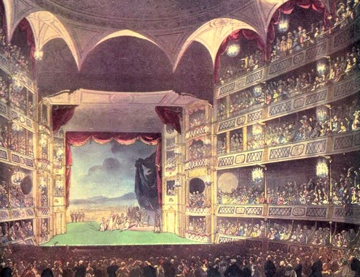 Theatre Royal, Drury Lane, from The Microcosm of London (1808-10)