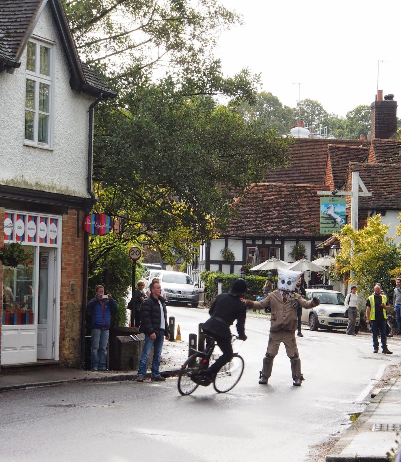 Shere, Surrey, film crew, Professor Branestawm