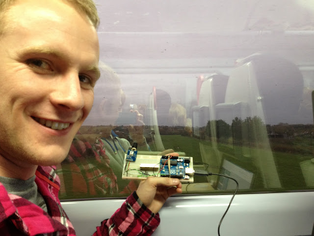Prototyping on the way to London on the train