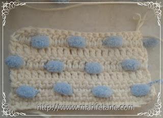 dut ip ile bebek battaniyesi