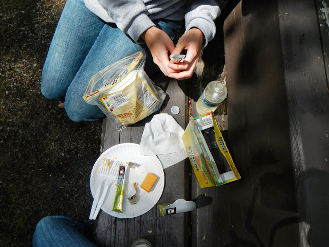 picnic near mt. hood in oregon