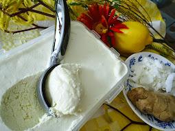 LEMON coconut ginger MOUSSE ice cream