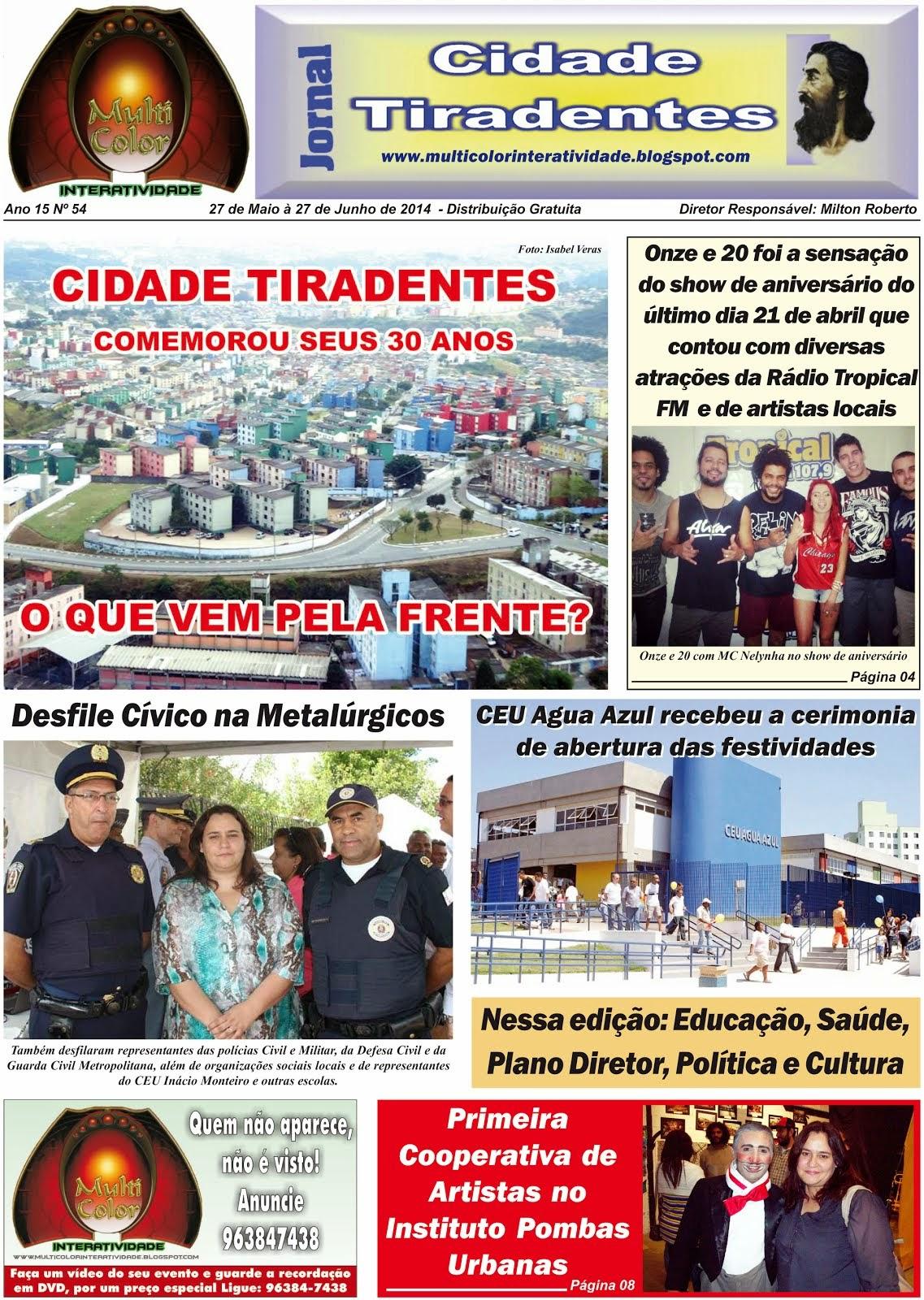 Jornal Cidade Tiradentes nº 54