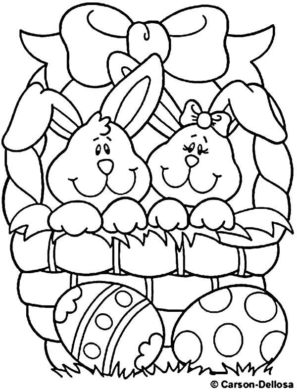 como desenhar Coelhos da Páscoa Com Ovos