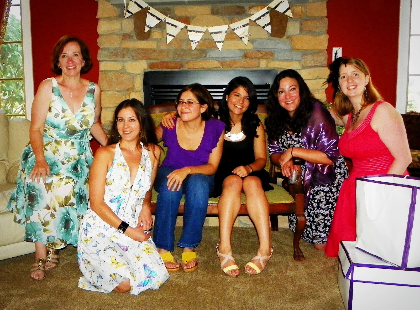 The Bride To Be Is 3rd From Left In Purple I M On Far Right Rest Are Other Bridesmaids Maid Of Honor Black Matron At