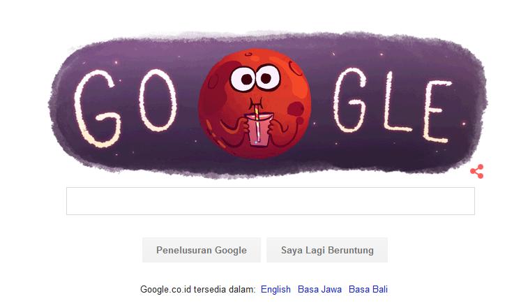 Mars di Google Doodle hari ini