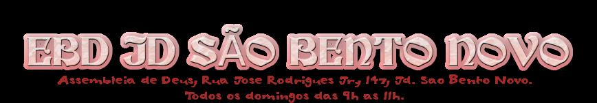 EBD Jardim São Bento Novo