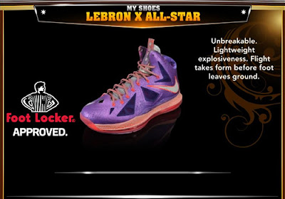 NBA 2K13 Nike LeBron X All-Star Colorways Shoes