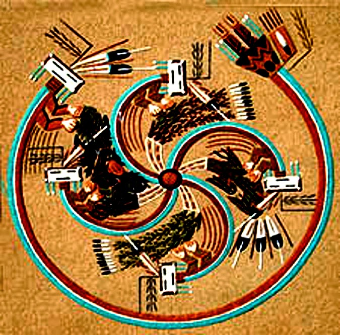 A history of graphic design chapter 78 navajo indians sand painting a sand painting by alvina begay navajo sciox Image collections