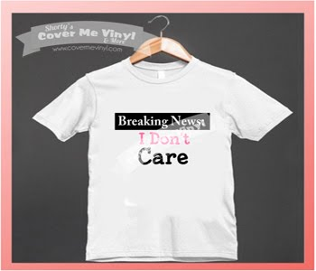 Breaking News I Don't Care Shirt