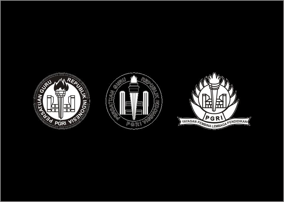 Download Logo PGRI Hitam Putih Vector cdr