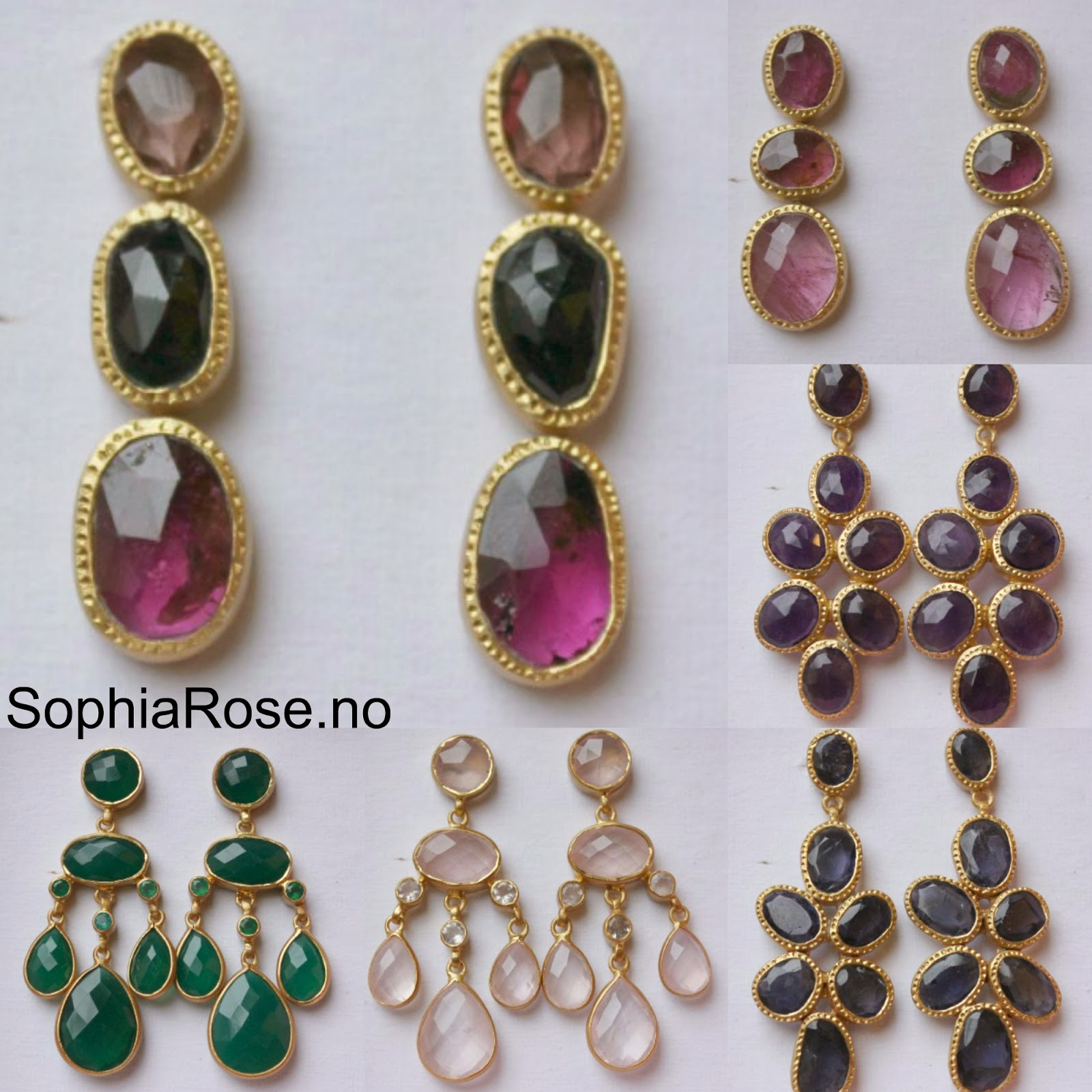 Beautiful Gemstone Earrings The Jaipur Collection