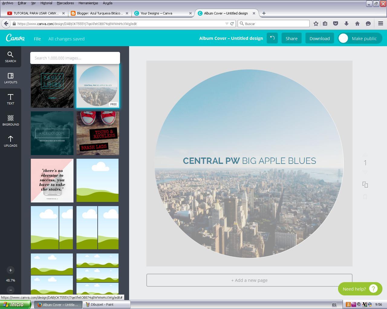 Azul Turquesa Bitácora de Teresa: Canva, una buena aplicación de ...