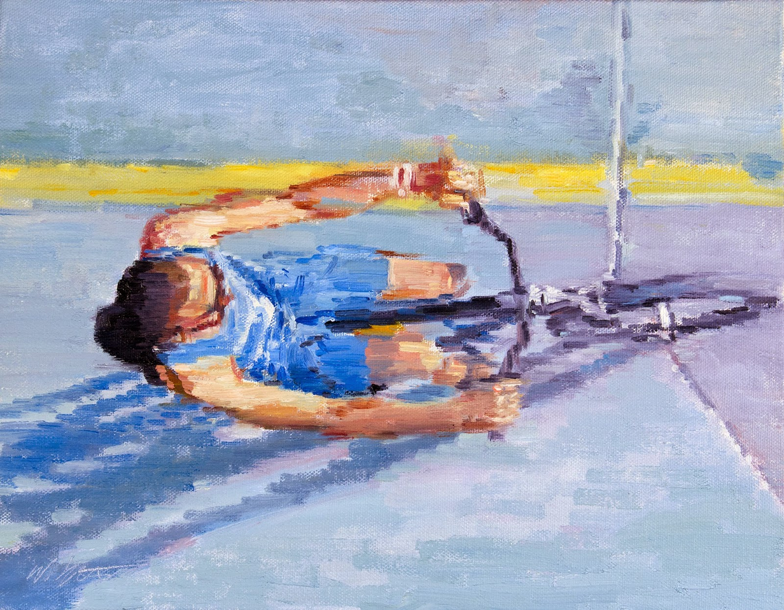 http://www.ugallery.com/oil-painting-man-bicycling-on-the-beach-in-santa-monica