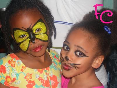 Maquiagem Artística Borboleta e Gatinha