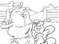 Desenhos para imprimir e colorir da galinha pintadinha