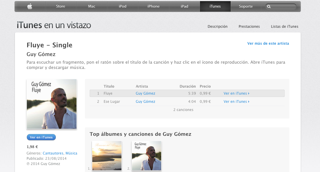 Guy Gómez Itunes, comprar música Guy Gómez online, venta, música Guy Gómez online, Guy Gómez, Guy Gómez música,