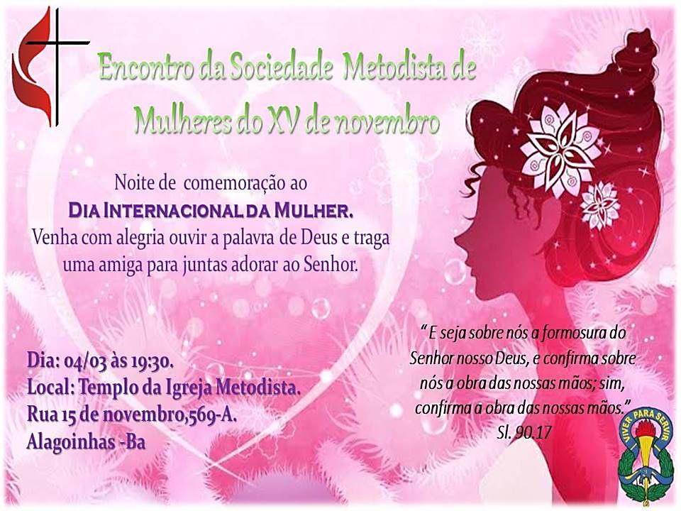 encontro da sociedade metodista mulheres xv de novembro
