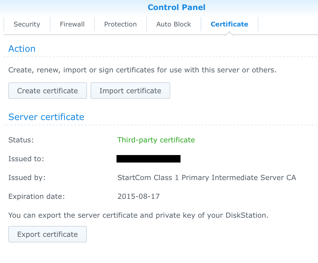 Labrat chris grants rants synology startssl openvpn and if this is true export your certificates so you have a known good copy of your servert and servery this will be needed on the next step xflitez Images