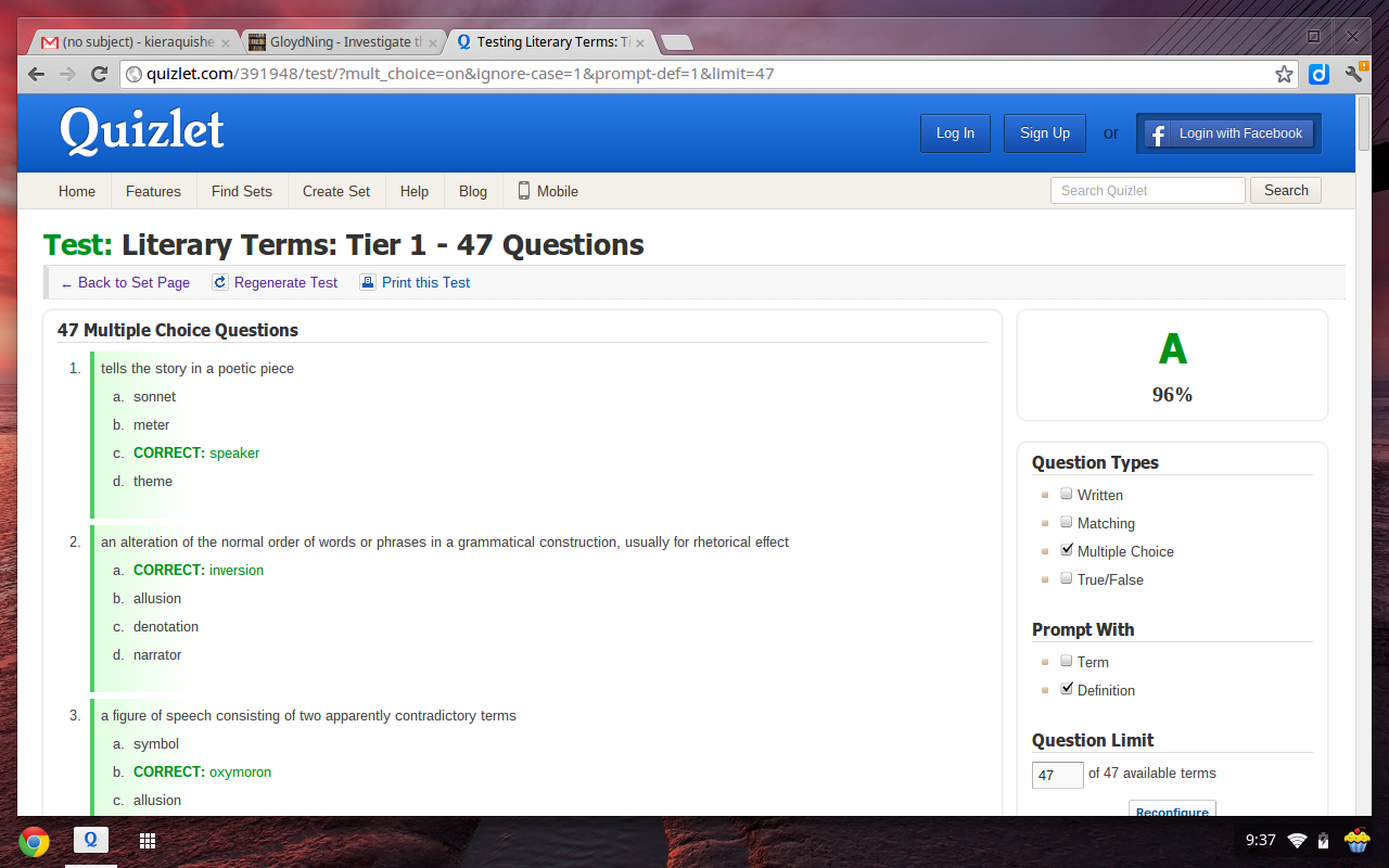 Thesis writer quizlet
