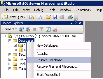 Backup and Restore SQL Server Database using SSMS