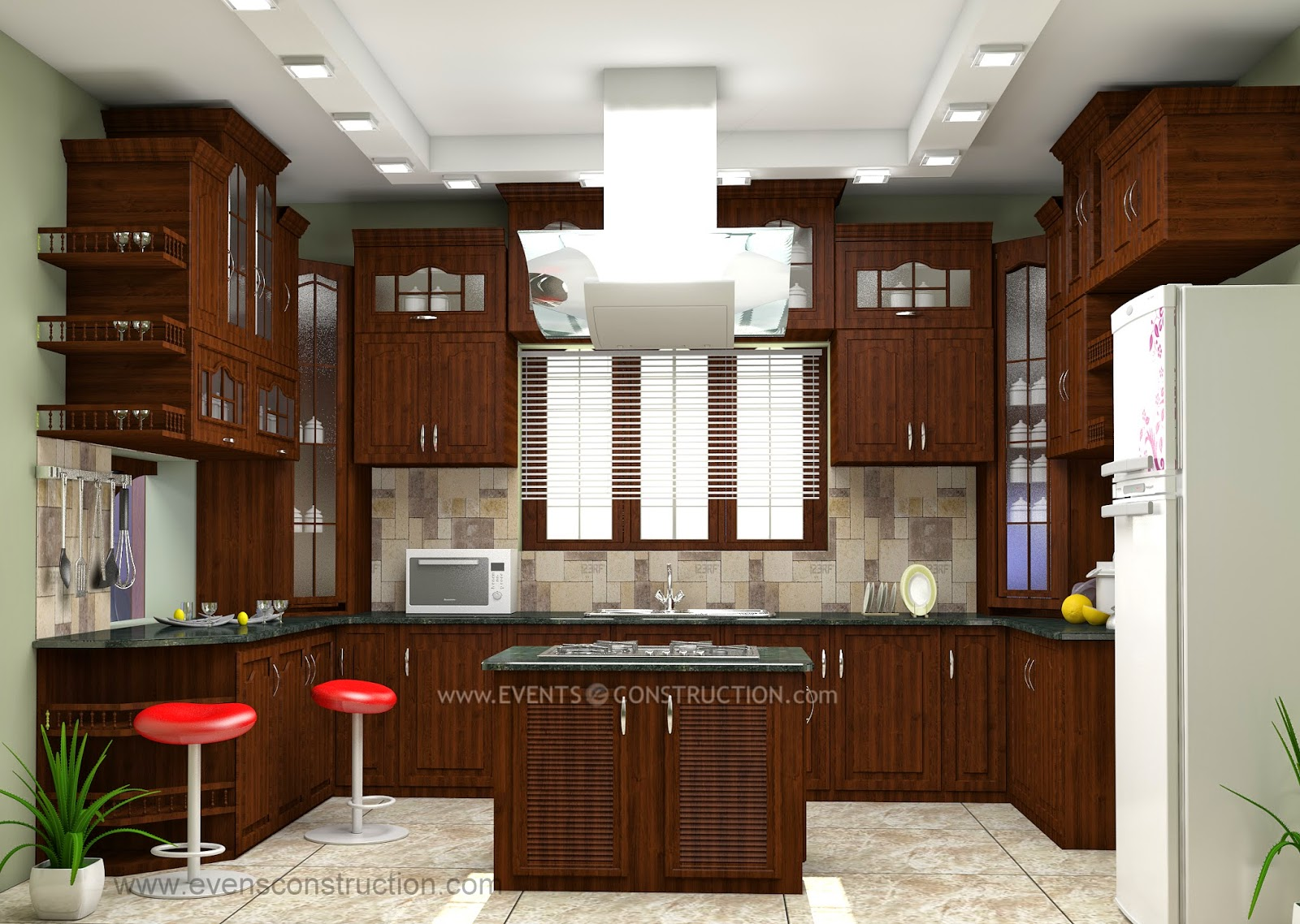 Evens construction pvt ltd july 2014 for Kerala style kitchen photos