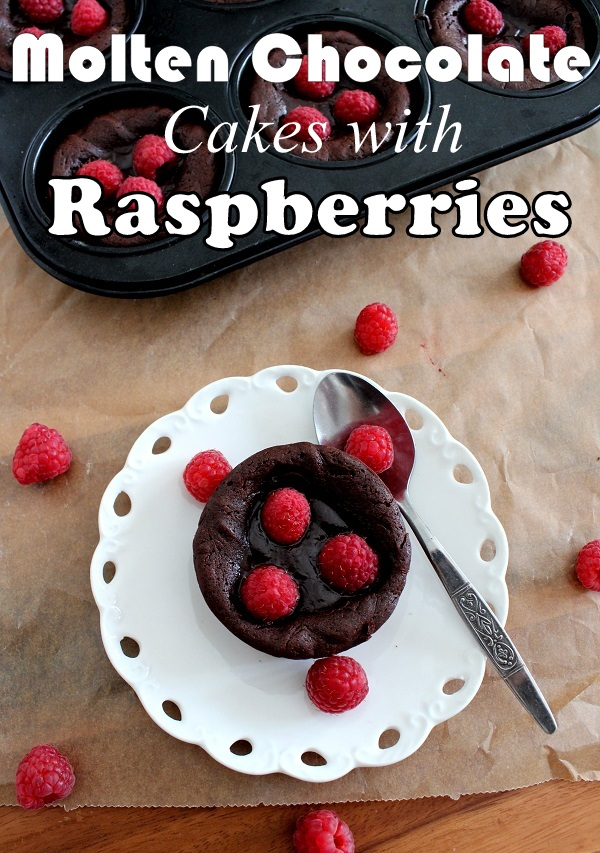 Wicked sweet kitchen: Molten chocolate cakes with raspberries