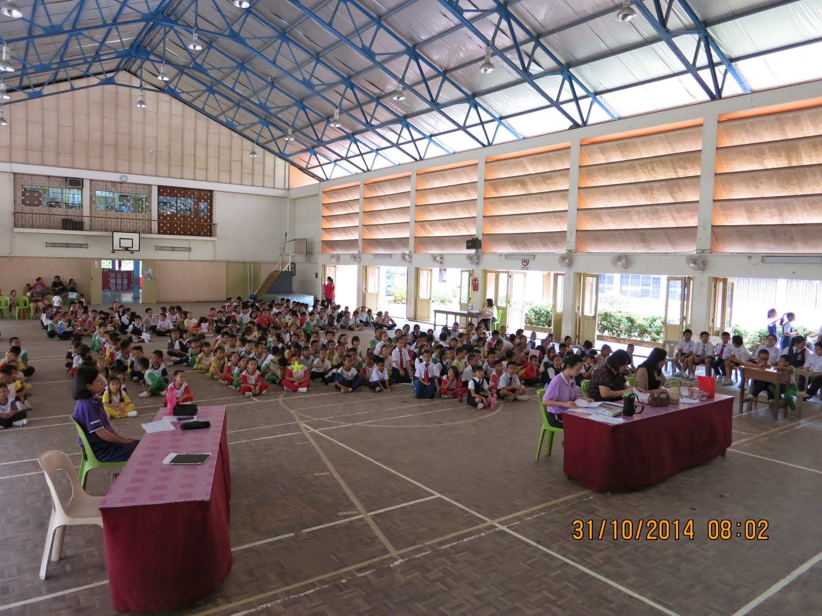 The Competition were held at the school hall.
