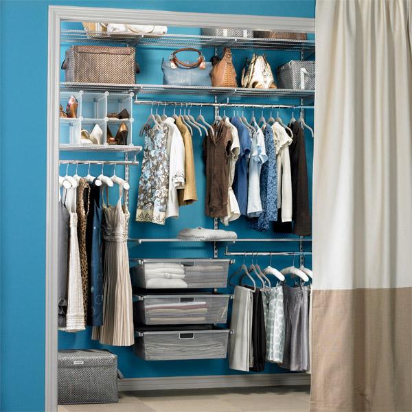 {Platinum Elfa Closet System Via The Container Store.}