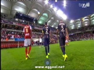 اهداف مبارة باريس سان جيرمان وستاد ريمس 2-2  فى الدورى الفرنسى HD  8-8-2014