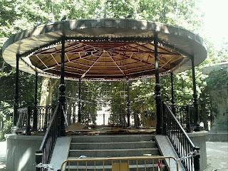 estado de la techumbre del templete del parque municipal