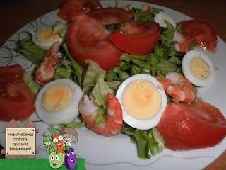 Salada de Gambas, Delícias do Mar e Ovo