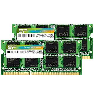 Crucial 16GB 2X 8GB DDR3L 1600Mhz 2Rx8 PC3L-12800S SODIMM RAM Laptop Memory CL11
