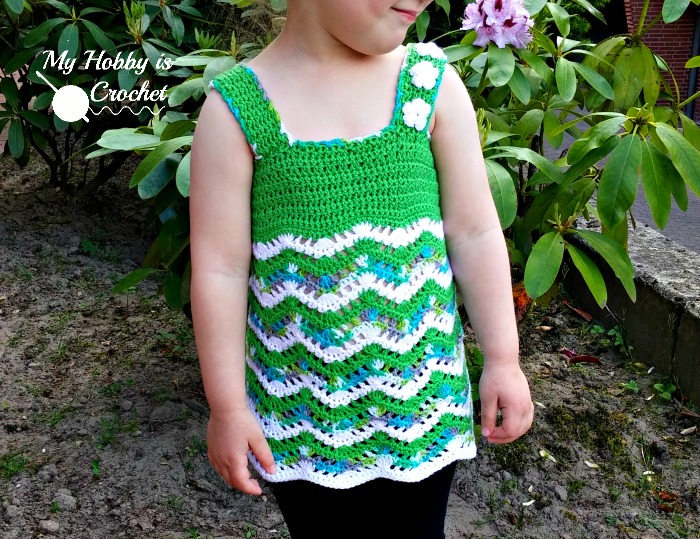 My Hobby Is Crochet Tropical Waves Lacy Chevron Top For Little