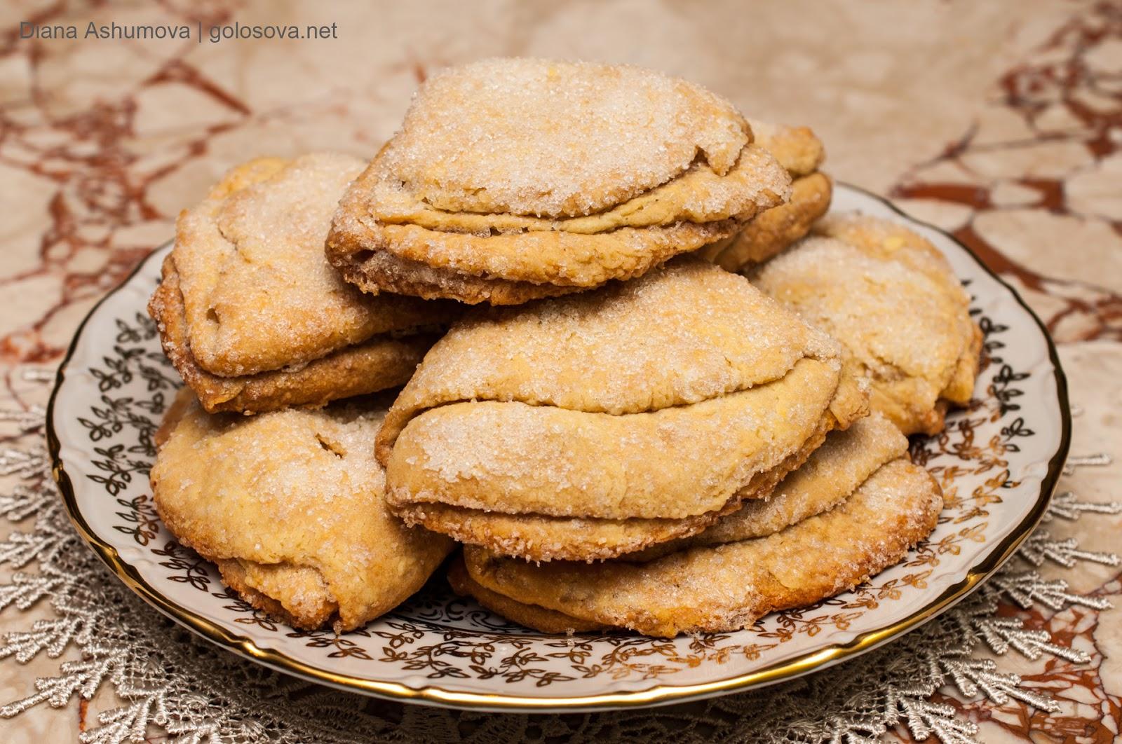 Печенье гусиные лапки из творога рецепт пошагово пышные