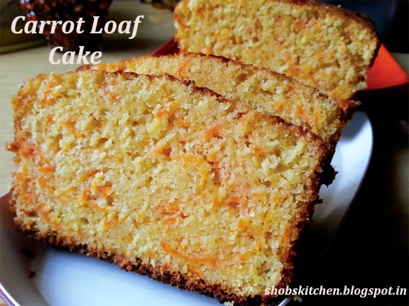 Carrot Loaf Cake! - ShobsKitchen