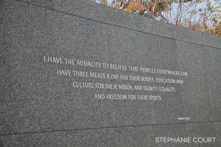 MLK monument washington dc