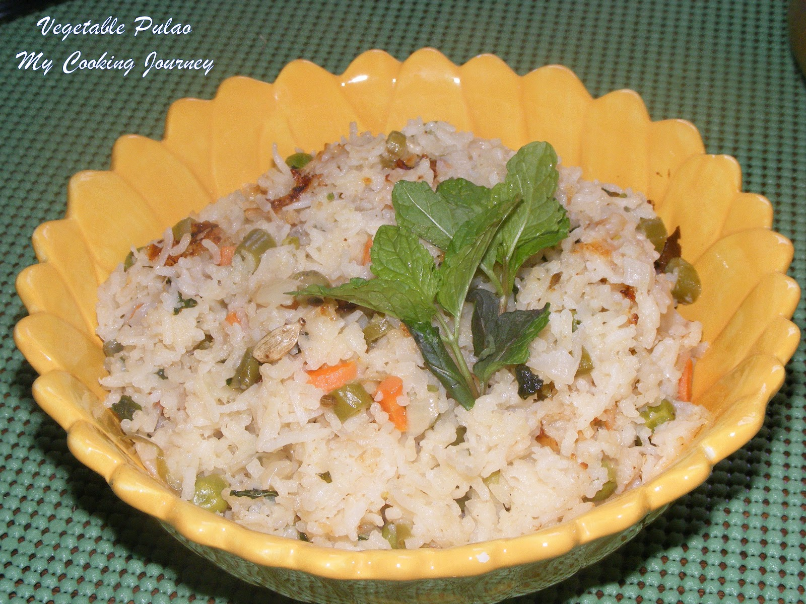 Vegetable Pulao - My Cooking Journey ...