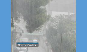 oratge lluvia en Alcoy
